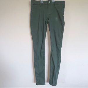 Hollister Army Green Super skinny jeans size 7
